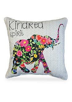 Home Fashions International Edith Elephant Decorative Pillow