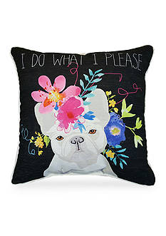 Home Fashions International Edith French Bulldog Decorative Pillow