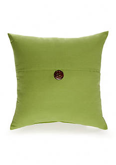 Home Fashions International Linen Button Pillow