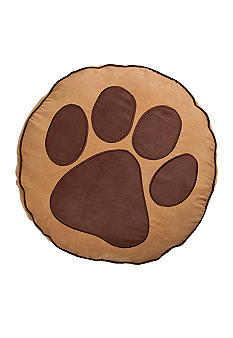 Home Fashion Int'l Paw Print Round Dog Bed - Online Only