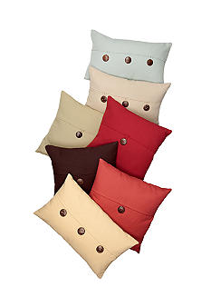Home Fashion Int'l Lucky Linen Button Decorative Pillow