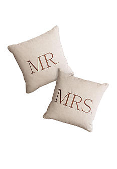 Home Fashion Int'l Mr. and Mrs. Decorative Pillow