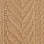 Blankets: Tan Vellux Twin Chevron Cotton Blanket