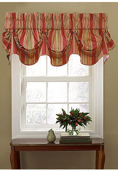 Waverly Sweetwater Stripe Window Valance - Online Only