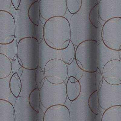 Solid Curtains: River Blue Eclipse™ ECLIPISE MERIDIAN PANEL, LINEN