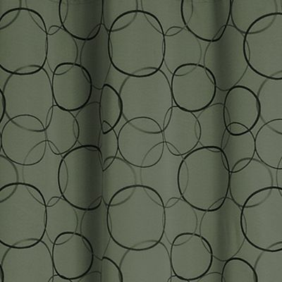 Solid Curtains: Sage Eclipse™ ECLIPISE MERIDIAN PANEL, LINEN