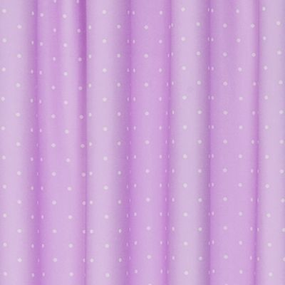 Patterned Curtains: Purple Eclipse™ POLKA PNK 42X84 PANE