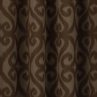 Patterned Curtains: Chocolate Eclipse™ PAT BLU 52X84 PANEL