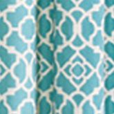 Patterned Curtains: Aqua Waverly WAVERLY PANEL NATURAL 50X95