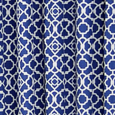 Patterned Curtains: Indigo Waverly Lovely Lattice Valance