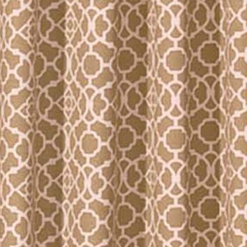 Patterned Curtains: Natural Waverly Lovely Lattice Valance