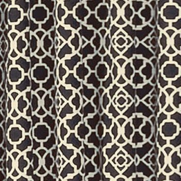 Patterned Curtains: Onyx Waverly Lovely Lattice Valance