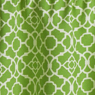 Patterned Curtains: Citron Waverly Lovely Lattice Valance