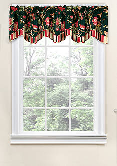 Waverly Charleston Chirp Noir Scalloped Valance