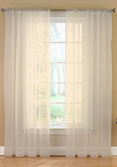Ellery Homestyles REMIX LINKS MESH SHEER CURTAIN PANEL IVORY