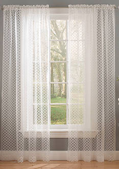 Waverly Burnout Curtain Panel - Online Only