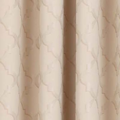 Patterned Curtains: Natural Eclipse™ ECLIPSE TIPTON TRELLIS BLACKOUT GROMMET WINDOW PANEL