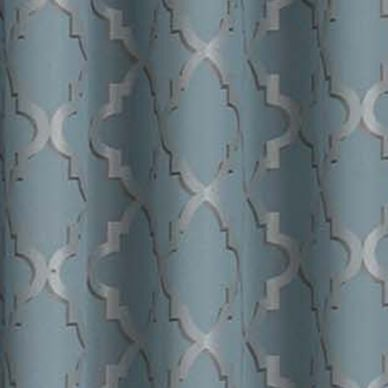 Patterned Curtains: River Blue Eclipse™ ECLIPSE TIPTON TRELLIS BLACKOUT GROMMET WINDOW PANEL