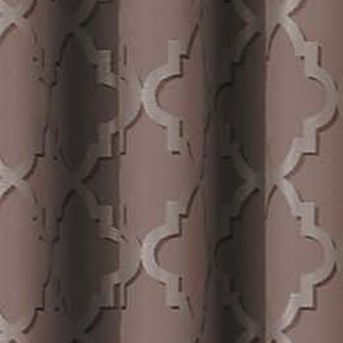 Patterned Curtains: Cocoa Eclipse™ ECLIPSE TIPTON TRELLIS BLACKOUT GROMMET WINDOW PANEL