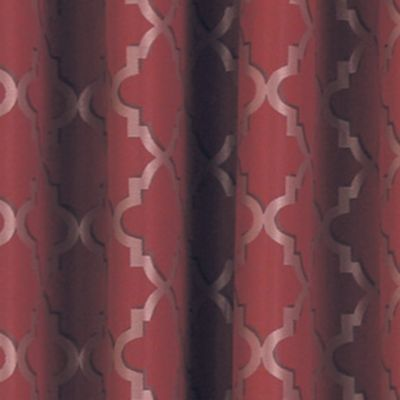 Patterned Curtains: Sangria Eclipse™ ECLIPSE TIPTON TRELLIS BLACKOUT GROMMET WINDOW PANEL