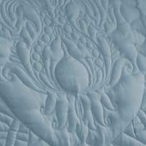 Waverly Bed: Blue Waverly DRESSED UP DAMASK BLUE FQ QUILT SET