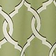 Patterned Curtains: Lime Parasol™ PARASOL TOTTENKEY TRELLIS BRN PANEL