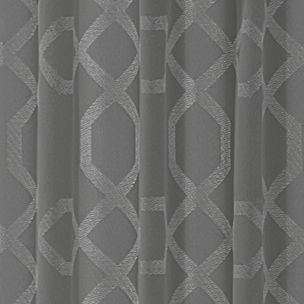 Patterned Curtains: Pewter Vue VS PREMIERE RD TAUPE 52X95