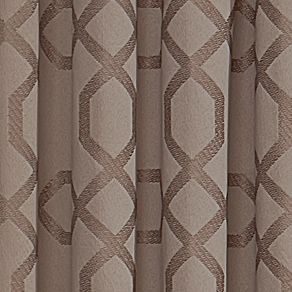 Patterned Curtains: Taupe Vue VS PREMIERE RD TAUPE 52X95