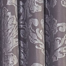 Patterned Curtains: Heathered Plum Vue Signature VS ARGUELLO MUSHROOM 52X84RD