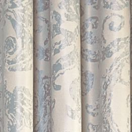 Patterned Curtains: Robins Egg Blue Vue Signature VS ARGUELLO MUSHROOM 52X84RD