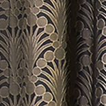 Patterned Curtains: Dark Mushroom Vue Signature VS FALLON RD GRAY 52X84
