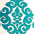 Patterned Curtains: Turquoise Waverly LUMINARY INDOOR/OUTDOOR PANEL
