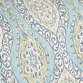 Waverly Bed: Light Blue Waverly MNLT MED KNG 4PC QUILT