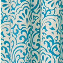 Window Valances: Aqua Waverly DO THE TWIST WINDOW PANEL