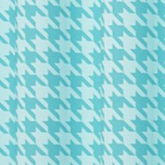 Patterned Curtains: Turquoise Eclipse™ ECL MY SCN BXLY BLCKT PANEL RASP 52X84