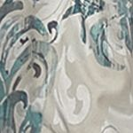 Patterned Curtains: Smokey Blue Vue Signature VS ARDEN LUX VAL LATTE 50X18