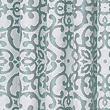 Patterned Curtains: Robins Egg Vue Signature VS LYRIC JAC T LAYER GLD 95X52