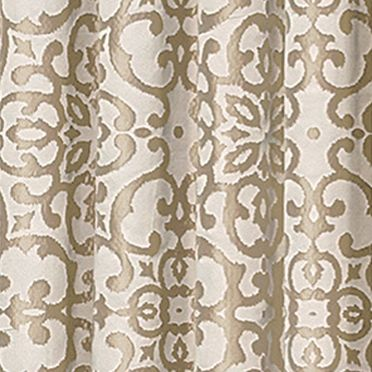 Patterned Curtains: Gold Vue Signature VS LYRIC JAC T LAYER GLD 95X52