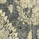 Patterned Curtains: Gray Waverly Clifton Hall Floral Window Curtain