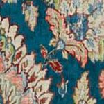 Patterned Curtains: Blue Waverly Clifton Hall Floral Window Curtain