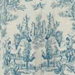 Patterned Curtains: Cornflower Waverly Charmed Life Window Tier Pair