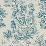 Waverly Curtains: Cornflower Waverly Charmed Life French Door Panel