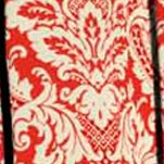 Waverly Curtains: Crimson Waverly Donnington Damask Window Curtain