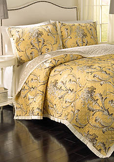 Historic Charleston Cecelia Reversible 3 Piece Quilt Set