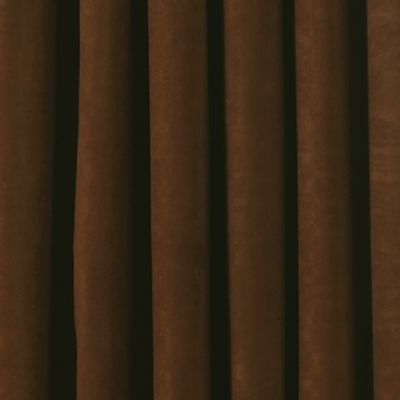 Solid Curtains: Chocolate Eclipse™ PLUSH SOLID BLKOUT P