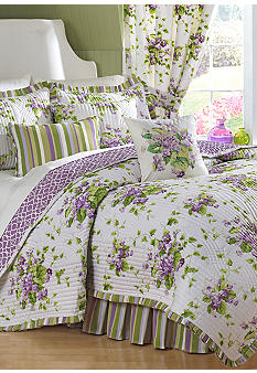 Waverly Sweet Violets Quilt Set Collection