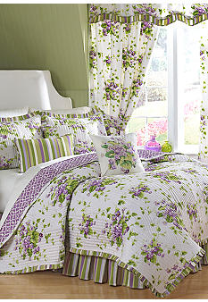 Waverly&reg; Sweet Violets Quilt Set Collection<br>