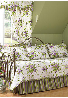 Waverly Sweet Violets 5-Piece Daybed Quilt Set