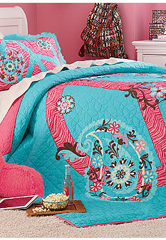 Home Accents Peace Paisley Quilt
