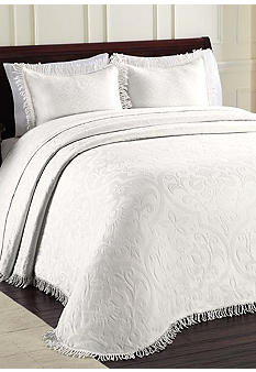 Allover Brocade Bedspread - Online Only